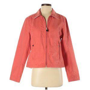 LL Bean Jacket Womens Small Salmon Cotton Zipper